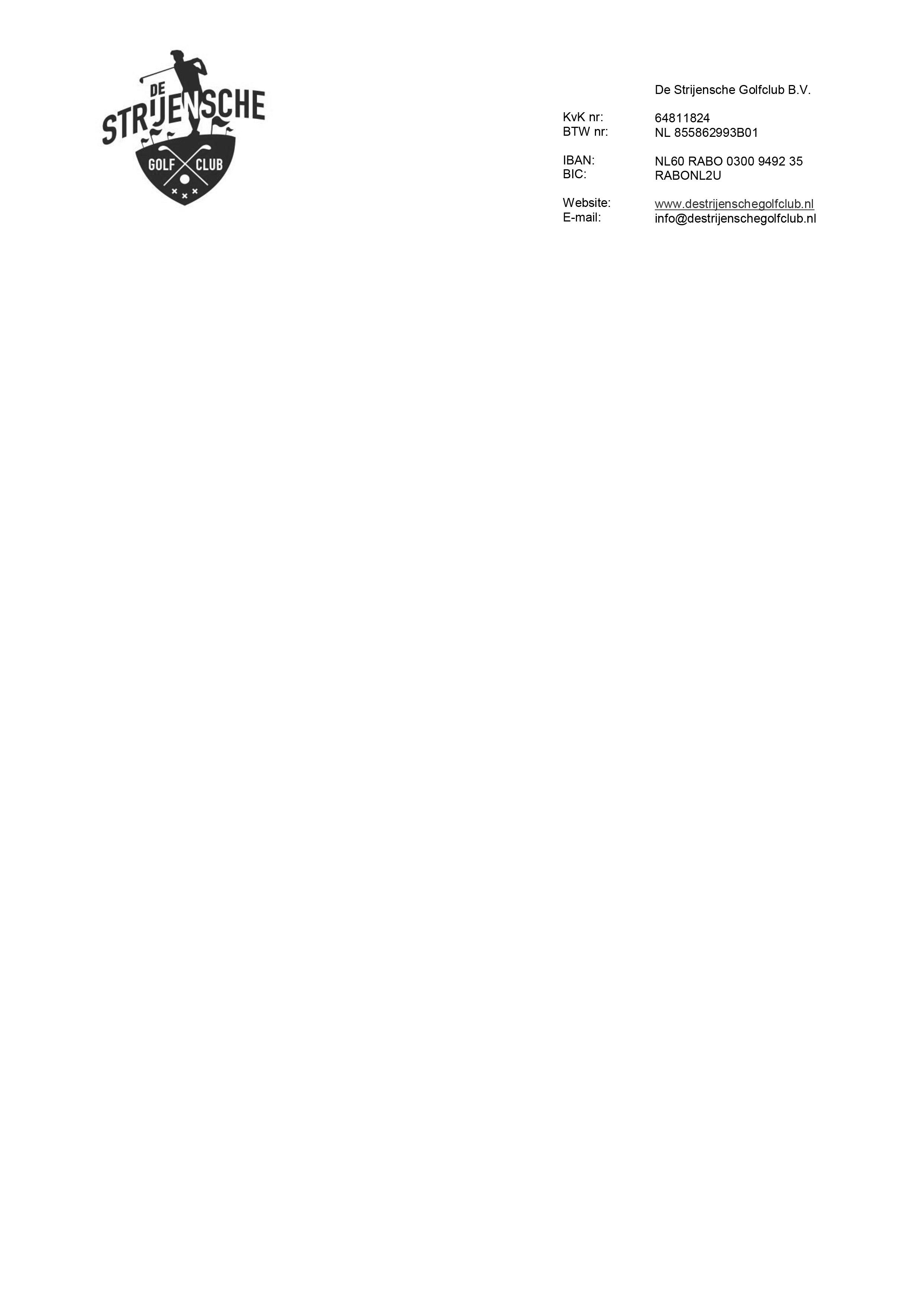 format factuur dsg Format Factuur Blanco | De Strijensche Golfclub